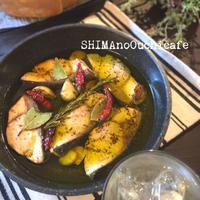 ローズマリー香るブリのオイルコンフィ 節約、時短、簡単レシピ おつまみ 使い回しレシピ