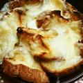 米粉パンのしっかりフレンチトーストのチーズ焼き