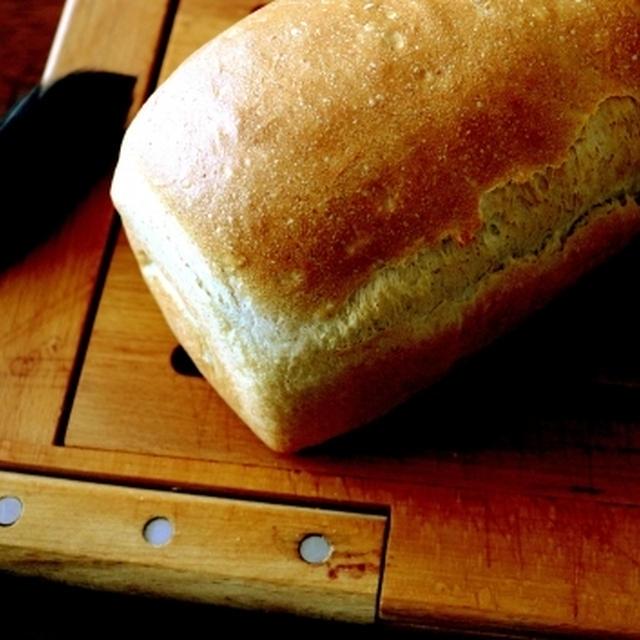全粒粉の消費を兼ねて・・ミニ食パン&この御方♪