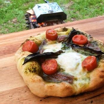 車で発酵☆キャンプピザ