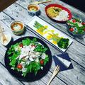 #東京デーリー さんのモニターでブルーチーズとチキンのサラダ