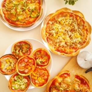作り手も食べ手もうれしい♪「餃子の皮」でつくる簡単おもてなしピザ