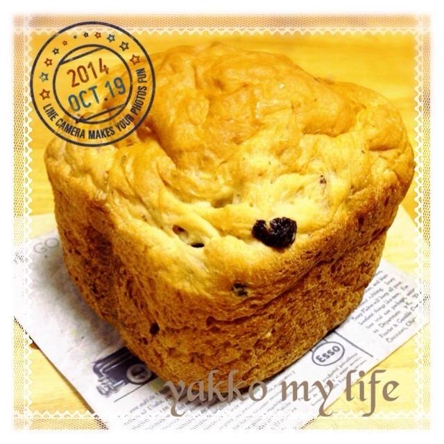 HBでドライフルーツパン(´∀`)