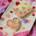 ♥簡単かわいいバレンタインの巻き寿司ケーキ♥