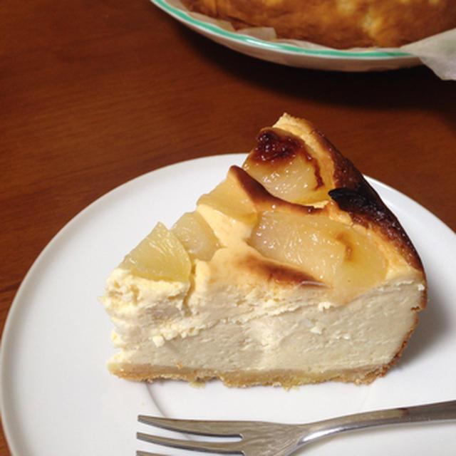 桃のヨーグルトチーズケーキ