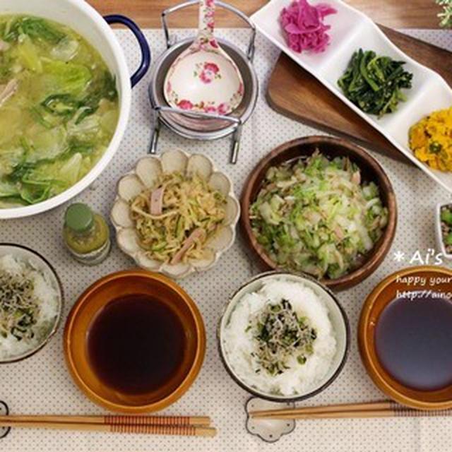 今年2回目の鍋*と我が家定番の白菜とツナのサラダレシピ♡~やっとみつけた~