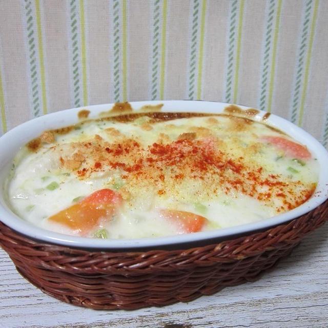 白菜と鶏肉のクリーム煮グラタン