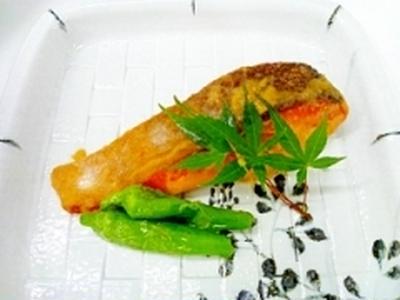 秋鮭の味噌バター焼き