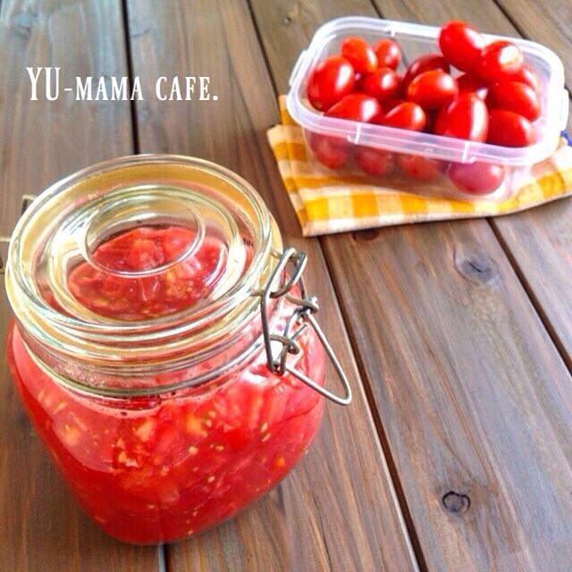 万能調味料 塩トマト〜塩トマトでドレッシング〜今日のお昼ごはんはこんな感じです〜