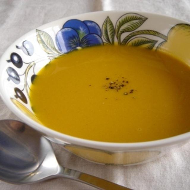 南瓜と豆乳のポタージュスープ。からの、きんぴら。