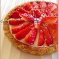 ☃ 雪 いちごの ふわふわチーズケーキ ❅タルト