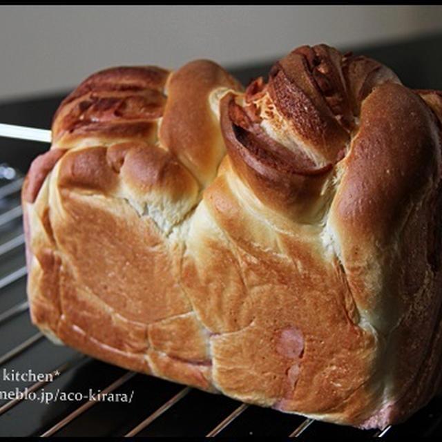 桜あんのマーブル食パン