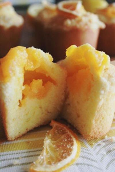 レモンクリームのミニマフィン