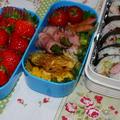 簡単!変わり巻き寿司とポークピカタのお弁当♪