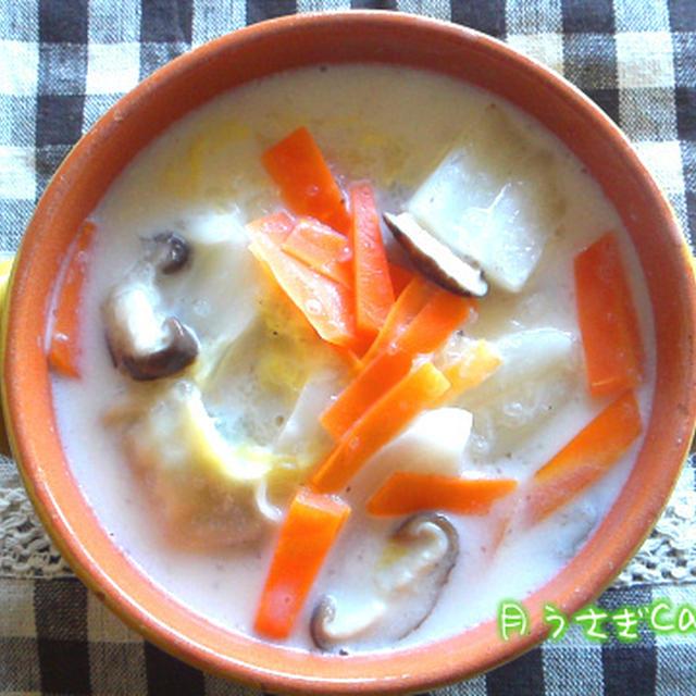 餃子と牛乳ってこんなに合うのか餃子クリームスープ