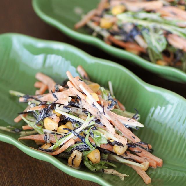 【レシピ】副菜だけで4品目摂れる!デリ風ひじきのサラダ