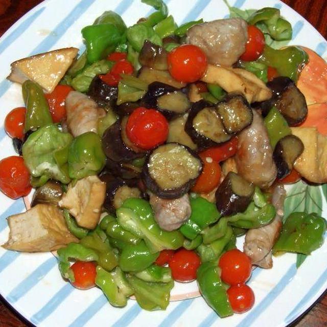 野菜と厚揚げの酢豚風