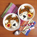 簡単朝ごはん!カレー粉たっぷり*ルー不要のドライカレーで「ライオン丼」