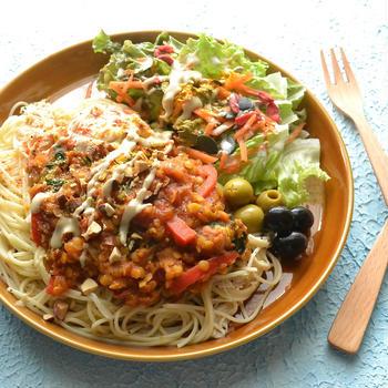 6/6 ダイエットごはん。【レンズ豆カレースパゲティ。】