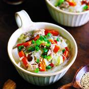 具沢山とスパイスde減塩ピリ辛!中華風春雨スープ