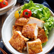 むね肉de丸ごとフライドチキン【#作り置き #冷凍保存 #お弁当 #揚げない #吸油率低下 #ヘルシー #ポリ袋 #チキンナゲットのような #からあげクンのような #主菜】