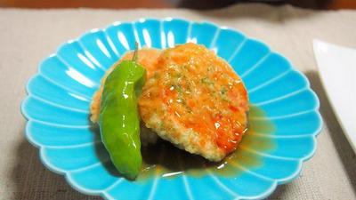 鶏明太れんこんの天ぷら  からの~ 鶏明太つくね♪ 残ったタネのつくねが絶品!