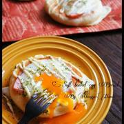 [捏ねない!発酵20分!] フライパンでとろ~り半熟卵とハムのパン と 連載 と 訂正