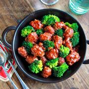 ♡ミートボールのケチャップ煮♡【#簡単レシピ#ひき肉#ブロッコリー#レンジ#時短】