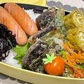 【お弁当】お弁当作り/bento/鯖しそ天ぷら/お好み焼き風玉子焼き《アラフィフ旦那弁当》