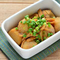 珍味を使って旨味たっぷり。里芋といかくんの煮物