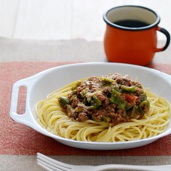 トマピーミートソーススパゲッティ