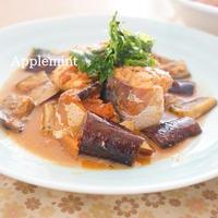 【簡単5分缶詰レシピ】ごま油が香る♪なすと鯖のしそ味噌炒め定食