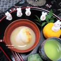 餅が…不思議な焼き上がりで、びっくり! 香り高い柚子で上品な美味しさ『柚子しるこ』
