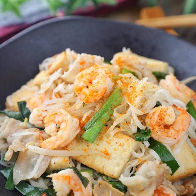 お家で簡単タイ料理♪米麺焼きそば*パッタイ