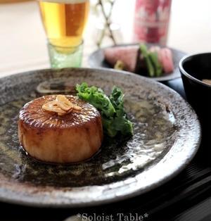 出汁×ガーリックバターで、うまうま大根ステーキ♪