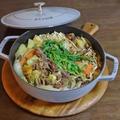 旨みたっぷり詰め込んだ野菜とキノコのビーフカレー鍋