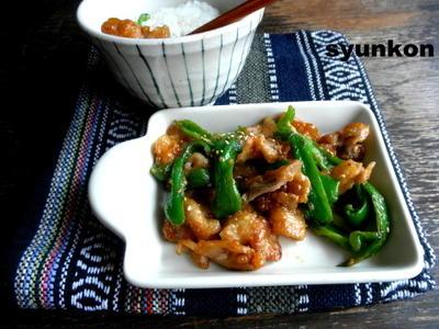 【簡単!!】豚肉とピーマンの味噌しょうが炒め