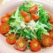 ピリ辛!? 水菜とツナのサラダ