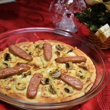 【レシピ】フラムクーヘン(ドイツ風ピザ)クリスマスディナーにおススメのパーティー料理