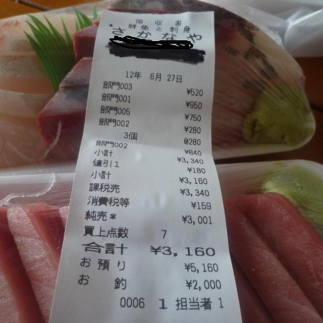 6月の食費¥11797円也♪