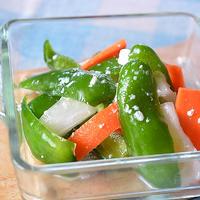 煮詰めたみりんと塩麹でピーマンと野菜の浅漬け♪