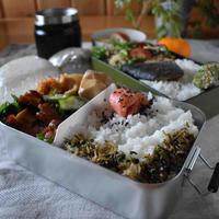 【旨辛チキン】#漬け焼き#作り置き#簡単#お弁当おかず …今週ラストの二個弁と朝ごはん〜と、ご飯量とか。