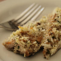 秋刀魚の味噌バターパン粉焼き。