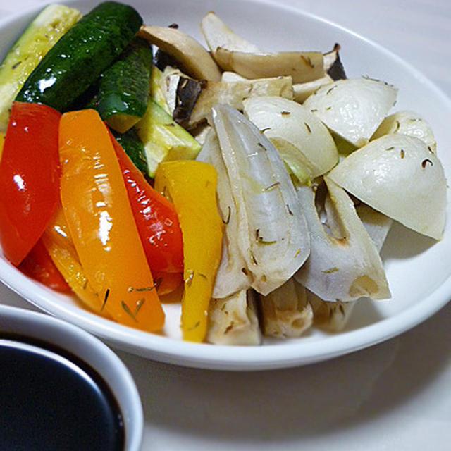 いろいろ野菜のローストとバルサミコソース