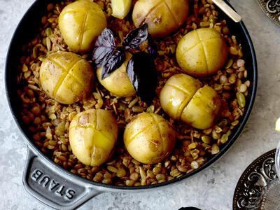 >夏レシピ♪フレッシュバジルの香りと、だしで楽しむ豆と野菜の料理 by 青山 金魚さん