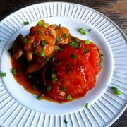 トマトと鶏の照り焼き