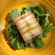 豆腐の味噌漬けとルッコラのサラダ