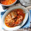 アウトドアにもオススメ!漬け込みお肉で風味ヤミツキ♡焼いて煮込むだけ 【スペアリブのトマト煮込みフレンチ仕立て】