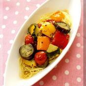 * 夏野菜たっぷりラタトゥイユのスープパスタ♪