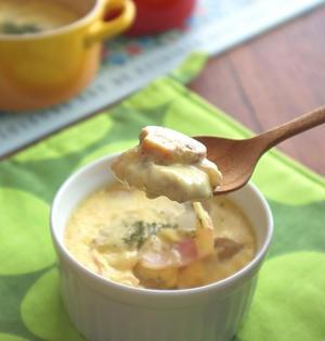 とろ~りチーズでおもてなし♪洋風茶碗蒸し